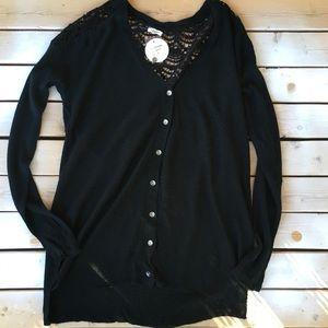 New 🏷 En Creme black lace sweater